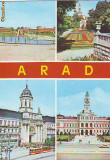 S-1937 Arad Strandul Vedere din parc Biserica Catolica
