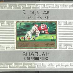 Sharjah - FOTBAL AMERICAN, colita ndt nestampilata S84