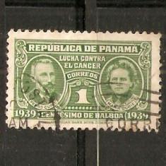 Timbre Panama 1939 Pedro si Maria Curie st.