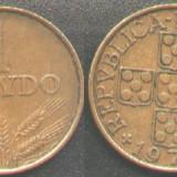 Portugalia 1 ESCUDO 1973, patina frumoasa