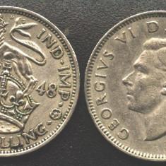 Anglia ONE SHILLING 1948 regele Georgius VI
