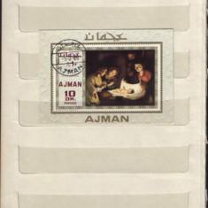 Ajman- Pictura religioasa - Timbre straine