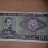 Bancnota 50 lei 1966 seria C 0057-..862 - Bancnota romaneasca