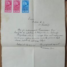 Caile Ferate Romane, Cerere, 1931, fiscale - Hartie cu Antet