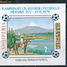 RFL Albania 1970 colita neuzata sport fotbal - Timbre straine