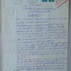 Certificat semnat de primarul din Dragoslava, Dambovita, 1936, fiscale - Hartie cu Antet