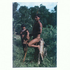 O FOTO 69 Familie de indieni Uaika -Brazilia -necirculata - Fotografie