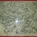 Desen penita Skeletti 1930 dupa Plan Bucuresti 1847 de Baraczin
