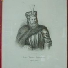 Gravura Radu Negru Bassaraba 1880 - Pictor roman