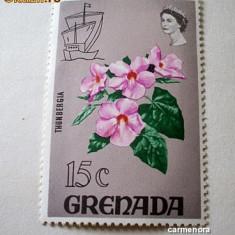 GRENADA - FLORI - NEUZATE - Timbre straine