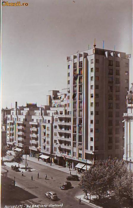 P1161 Bucuresti B-dul Bratianu Hotel Carlton necirculata