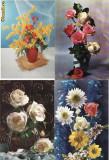 Set 40 carti postale -Flori-editate Italia, Necirculata, Printata
