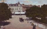 Ok-0224- Romania, Giurgiu, carte postala necirc. aprox.1914: Piata Carol, animat