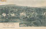 CFL 1907 ilustrata Slimnic Sibiu vederea satului