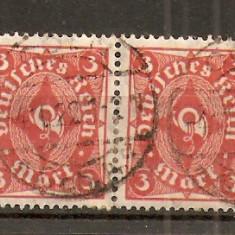 Timbre Germania Reich 1921 pereche st.