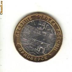 Bnk mnd rusia 10 ruble 2008 unc, priozersk, bimetal