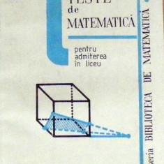 Teste de matematica pentru admitere in liceu - V. Schneider - Teste admitere liceu
