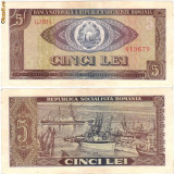 * Bancnota 5 lei 1966 - Bancnota romaneasca