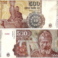 * Bancnota 500 lei 1991 - ianuarie - Bancnota romaneasca