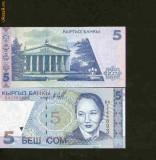 Bnk bn kyrgyzstan 5 som 1997 unc