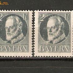 Germania VAVARIA 1916/*110A nestampilate