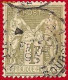 1876 FRANTA alegorie Pacea si Comertul Sage tip II 1 Fr.