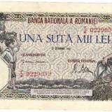 * Bancnota 100000 lei 1946 - decembrie - Bancnota romaneasca