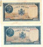 * Lot bancnote 5000 lei 1945