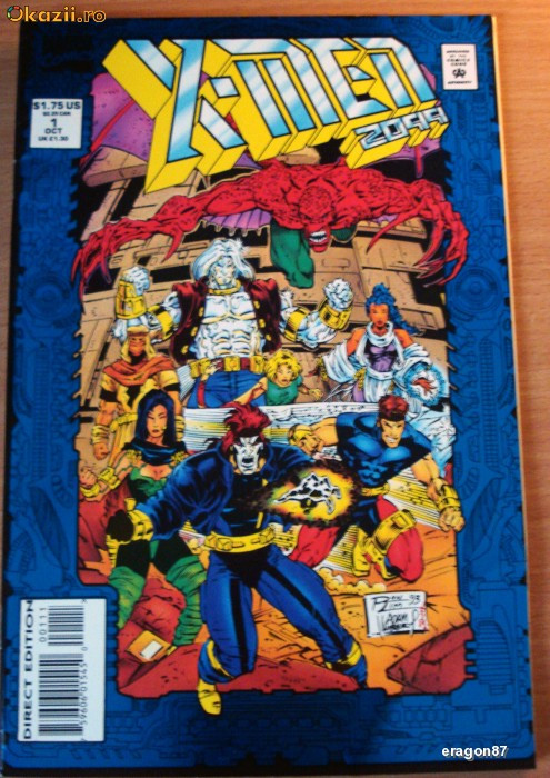 X-Men 2099  #1/1993. Marvel Comics foto mare