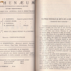 ATHENAEUM - revista liceelor militare pe anul 1938