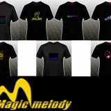 Tricouri Magic Melody cu egalizator, L, XL, Maneca scurta, Negru