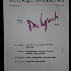 SOCIOLOGIE ROMANEASCA - 2005 - Carte Sociologie