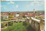 CLUJ - NAPOCA - Vedere, case, blocuri, biserici.