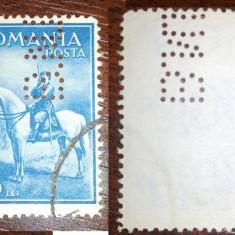 Romania 1932 Carol II calare- perfin BNR - Timbre Romania