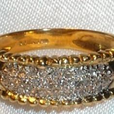 Inel banda din aur cu diamante naturale
