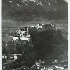 CARTE POSTALA - AUSTRIA 1932, SALZBURG, CASTELUL, Europa, Circulata, Fotografie