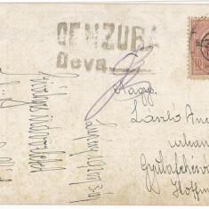 CFL 1920 ilustrata imediat dupa Primul Razboi Mondial cu cenzura romana Deva