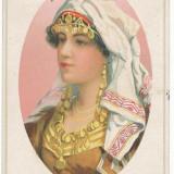 CFL 1919 ilustrata cenzurata, femeie cu salbe francatura deosebita