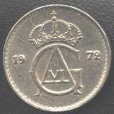 Suedia 10 ORE 1972 monograma Gustav VI. XF/a.UNC