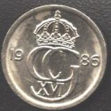 Suedia 10 ORE 1986 monograma Carl XVI Gustav a.UNC/UNC