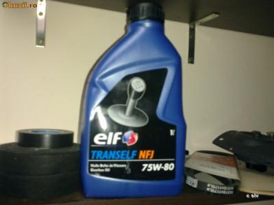 Ulei transmisie(cutie de viteze )Elf nfj 75w80 la 1 litru Promo foto