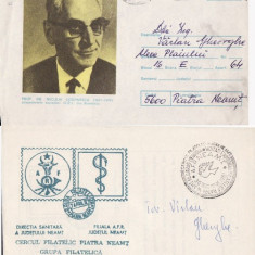 2 plicuri-medicina -dr.N.Costinescu, DSJ Neamt - Plic Papetarie