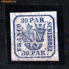 1862 L.P. 10 sarniera - Timbre Romania