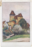 CFL 1925 ROMANIA ilustrata biserica fortificata saseasca Ighisul Nou Sibiu, Necirculata, Printata