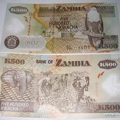 ZAMBIA 2008 - 500 KWACHA - UNC