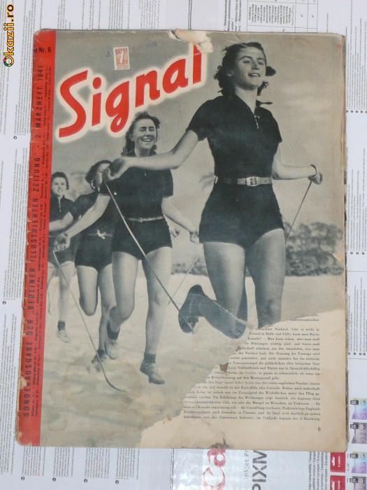 Revista de RAZBOI SIGNAL Germana Nr. 6 1941 Nr. 2 Martie foto mare