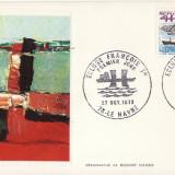 FDC Franta -Le Havre-Ecluza, vapoare-geografica