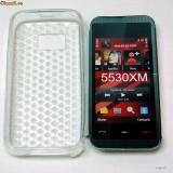 Husa de silicon Nokia 5530 XM - SILICON TRANSPARENT! NOU!! - Husa Telefon