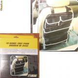 Organizator auto cu buzunare - de prins pe spatarul scaunului -