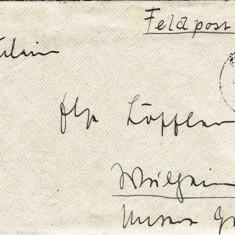 PLICURI GERMANIA, CENZURA MILITARA, CNZ 7 redus - Plic Papetarie